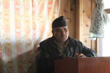 कार्यक्रममा आफ्नो मन्तव्य राख्दै शिक्षा श्रोत व्यक्ति श्री कृष्ण दास कोईराला
